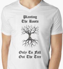 Planting The Roots  Men's V-Neck T-Shirt