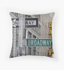 New York Street Signs Throw Pillow