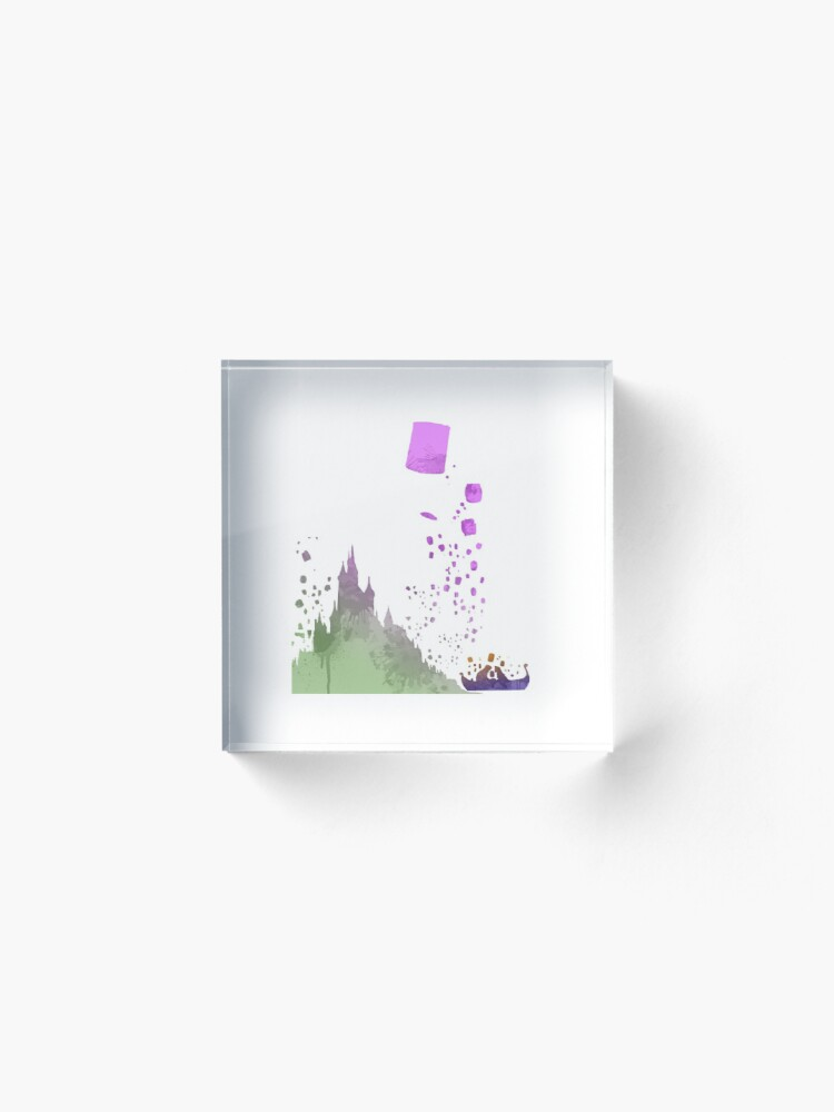 Alternate view of Boat infront of castle Inspired Silhouette Acrylic Block