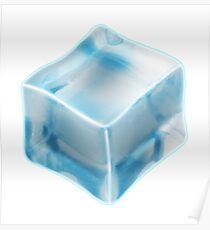 COOL, ICE, CUBE, FREEZE, FREEZING, COLD Poster