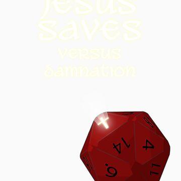 Jesus Saves versus damnation by xadrian