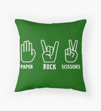 Paper Rock Scissors Throw Pillow