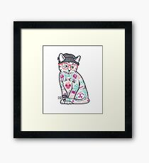 """Cats Put the """"Me"""" in MEOW Framed Print"""