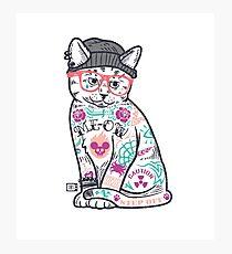 """Lámina fotográfica Los gatos ponen el """"yo"""" en MEOW"""