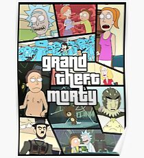 Grand Theft Morty Poster