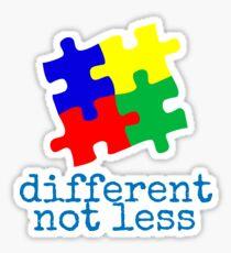 Different Not Less Sticker
