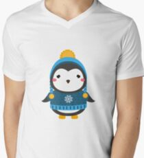 Cute little penguin in winter clothes T-Shirt