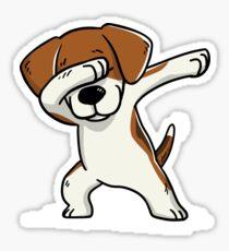 Dabbing Beagle Funny Sticker