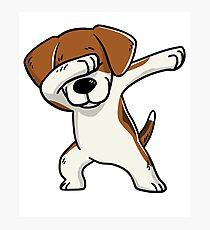 Tappender Beagle lustig Fotodruck