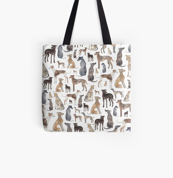 Greyhounds, Wippets and Lurcher Dogs! All Over Print Tote Bag