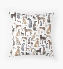 Greyhounds, Wippets and Lurcher Dogs! Throw Pillow