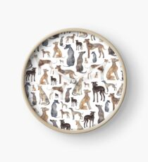 Greyhounds, Wippets and Lurcher Dogs! Clock