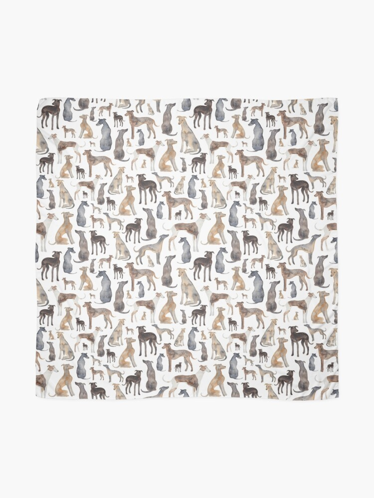 Alternate view of  Greyhounds, Wippets and Lurcher Dogs! Scarf