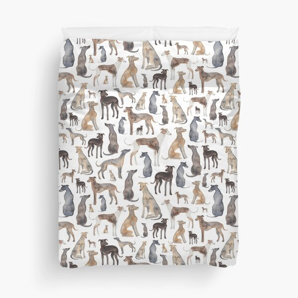 Greyhounds, Wippets and Lurcher Dogs! Duvet Cover