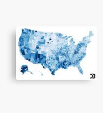 US map visualisation: unemployment rate (D3.js) Metal Print