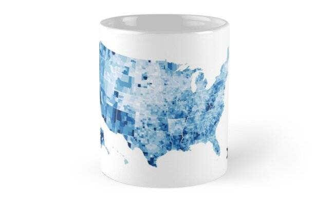 Us Map Visualisation Unemployment Rate D3 Js Mugs By Data Love
