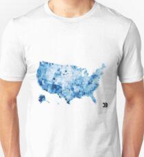 US map visualisation: unemployment rate (D3.js) Unisex T-Shirt