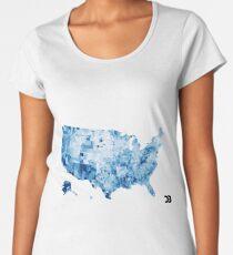US map visualisation: unemployment rate (D3.js) Women's Premium T-Shirt