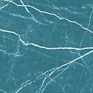 «Patrón de textura de piedra de mármol azul» de La Chic