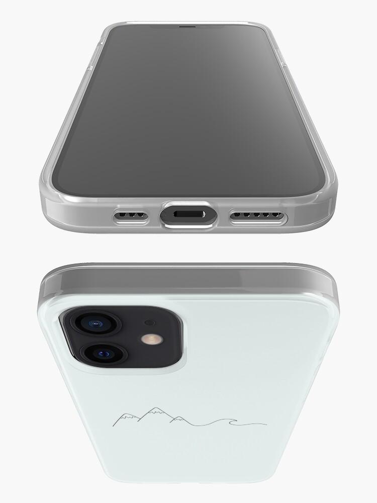 Vista alternativa de Funda y vinilo para iPhone Ola de montaña