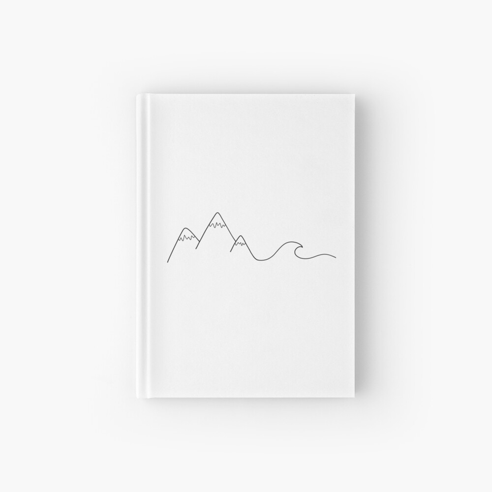Mountain Wave Hardcover Journal