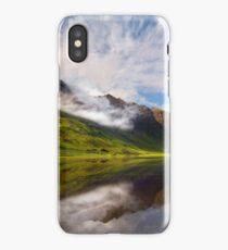 Glen Coe. Loch Achtriochtan and Aonach Eagach reflection. Highland Scotland. iPhone Case/Skin