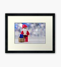 Lego Santa Claus Framed Print