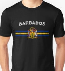 Barbadian or Bajuns Flag Shirt - Barbadian or Bajuns Emblem & Barbados Flag Shirt Unisex T-Shirt