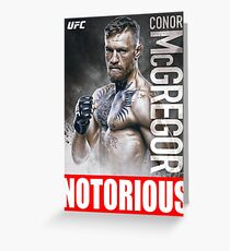 Conor McGregor UFC the Notorious Greeting Card