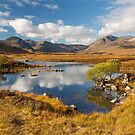 Rannoch Moor. Lochan na-h-achlaise. Blackmount in Autumn. Highland Scotland. by PhotosEcosse