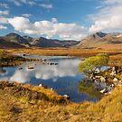Rannoch Moor. Lochan na-h-achlaise. Blackmount in Autumn. Highland Scotland. by PhotosEcosse