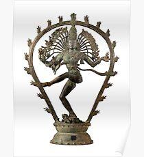 The lord of dance, Shiva dancing, Hindu, Nataraja from Tamil Nadu, India. Chola Dynasty Poster