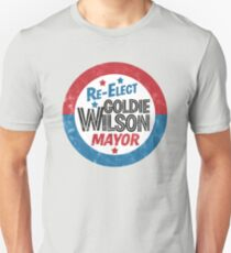 Re-Elect Mayor Goldie Wilson (distressed) Back to the Future T-Shirt