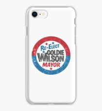 Re-Elect Mayor Goldie Wilson (distressed) Back to the Future iPhone Case/Skin