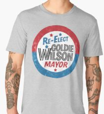 Re-Elect Mayor Goldie Wilson (distressed) Back to the Future Men's Premium T-Shirt