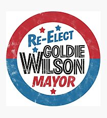 Re-Elect Mayor Goldie Wilson (distressed) Back to the Future Photographic Print