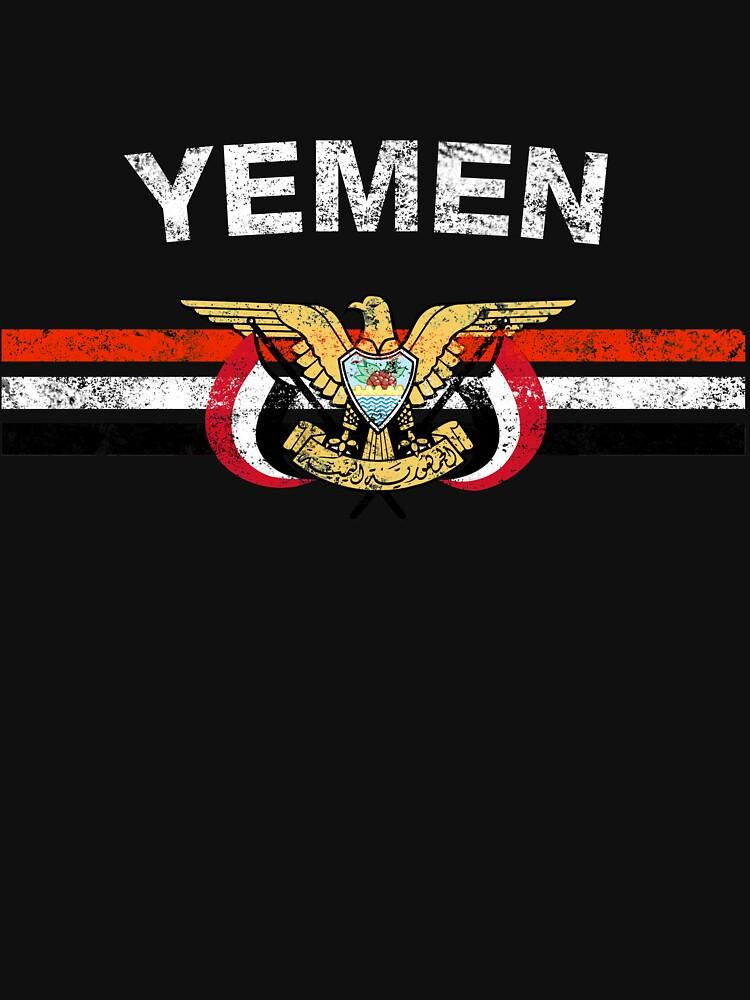 Yemeni or Yemenite Flag Shirt - Yemeni or Yemenite Emblem & Yemen Flag Shirt by ozziwar