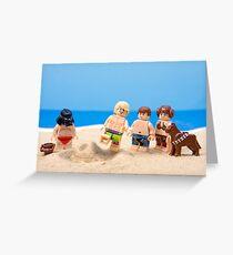 Vader's Sandcastle  Greeting Card