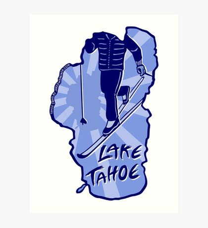 Cross-Country Ski Lake Tahoe Art Print
