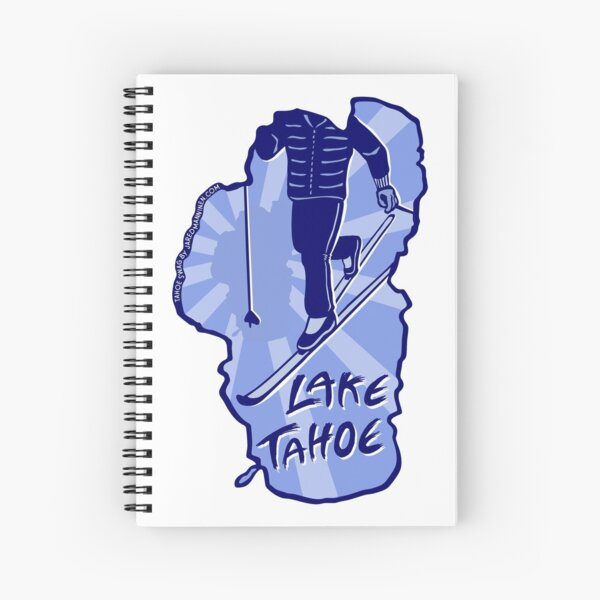 Cross-Country Ski Lake Tahoe Spiral Notebook