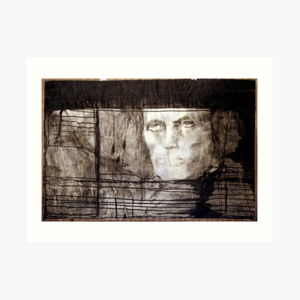 portrait of david robert jones Art Print