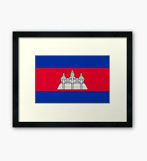 Cambodia Flag Products Framed Print