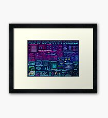 Map of Computer Science Framed Print