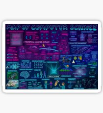 Map of Computer Science Sticker