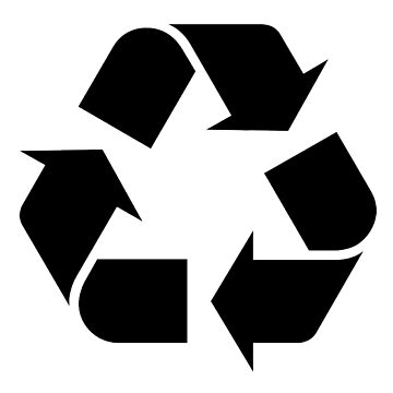 RECYCLING, BLACK & WHITE, converting waste materials into new materials by TOMSREDBUBBLE