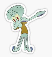 Squidward Dabbing Sticker