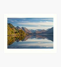 Five Sisters and Loch Duich, from Inverinate . North West Highlands. Scotland. Art Print