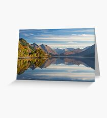 Five Sisters and Loch Duich, from Inverinate . North West Highlands. Scotland. Greeting Card