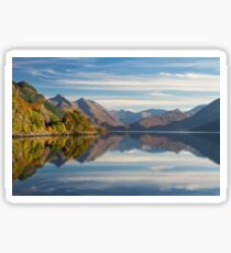 Five Sisters and Loch Duich, from Inverinate . North West Highlands. Scotland. Sticker