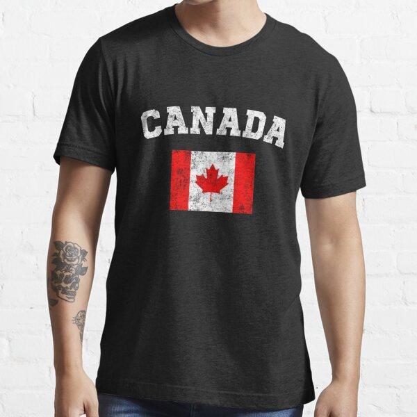 Chemise drapeau canadien - T-shirt vintage Canada T-shirt essentiel